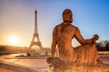 Fotomurales - Champs de Mars in Paris mit Eiffelturm im Hintergrund