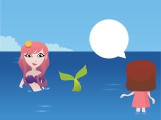 A mermaid in the beach