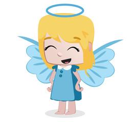 little girl dressed like an angel