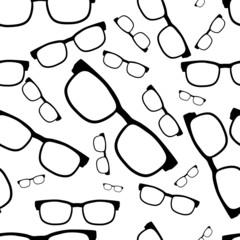 Seamless glasses pattern, eyeglasses
