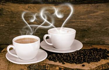 Guten Morgen: Liebe zu Kaffee und Cappuccino :)