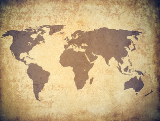 world map grunge