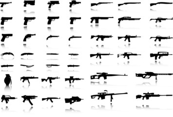 Illustration of Set of Weapons