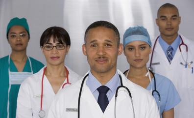 Portrait of multi-ethnic doctors