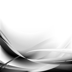 Black and waves abstract background