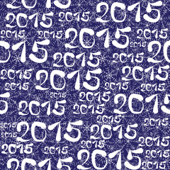 new year 2015 seamless pattern