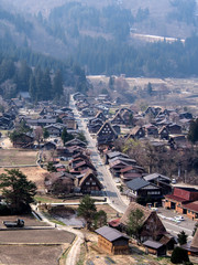 landscape of Shirakawa-go village, Japan