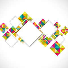 Abstract colorful modern geometric template and space for text