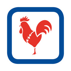 Vector illustration of French rooster