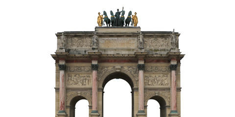 Fototapete - Triumphal arch on the area of Karusel, Paris, France
