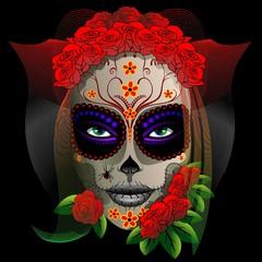 Skull Girl Dia de los Muertos