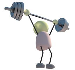 Lifting Dumbbells 3d Character