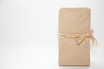 Ceramic Brown Paper Bag Vase