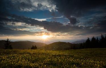 Sunset in Folgaria