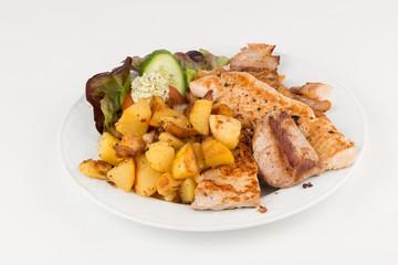 Grillteller, verschiedene Fleischsorten