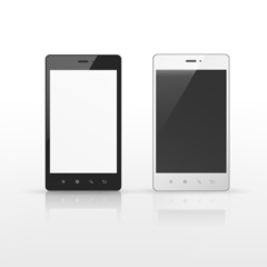 smart phones with blank screen