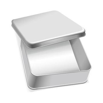 blank metal box template
