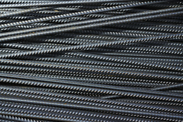 iron reinforcement rods in the background