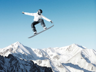 Snowboarding sport Wall mural