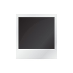 Blank photo isolated on white