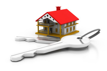 3d home with key ..