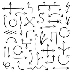 Arrows Scribble Set Black