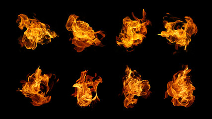 Burning fire collection