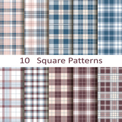 Set of ten square patterns
