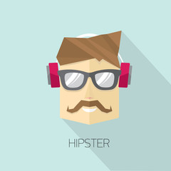vector hipster man icon. hipster style