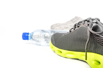Sport shoes and water