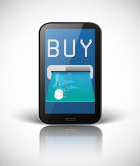 e commerce concept with smartphone and credit card