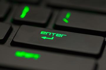 Enter key of computer keyboard