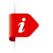 i - Roter Sticker Pfeil mit Schatten