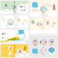 Collection:Set of Brochure template with concept icons