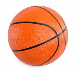 Orange basketball  isolated on white background