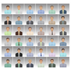 Businessmen - Isolated On Gray Background