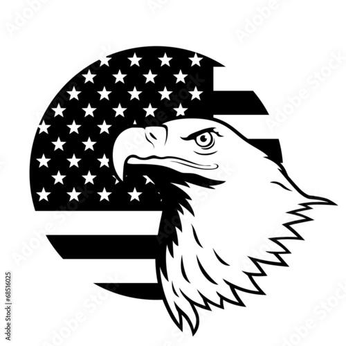 bf03fc36dd3b4 American eagle against USA flag background.
