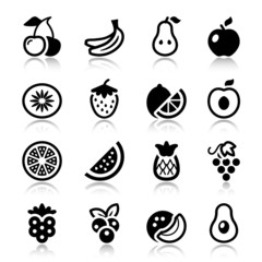 fruits iconset with reflex