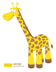 Smiling cartoon giraffe illustration