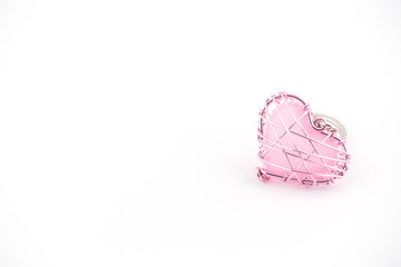 Heart wire pink beautiful.