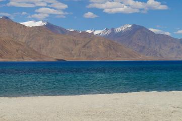 Pangong Tso or Pangong Lake in Ladakh, India