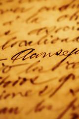 papier mit alter schrift