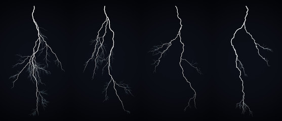 Wall Murals Storm Lightning bolt
