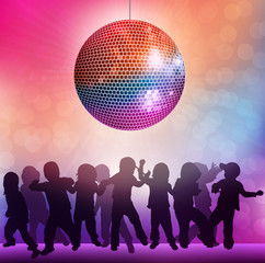 Children at the disco