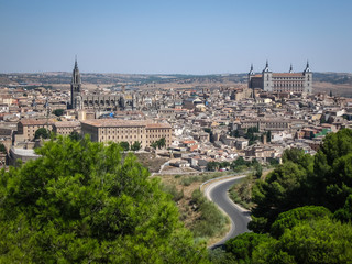 View of Toledo from the opposite bank of the river Tajo, Castill