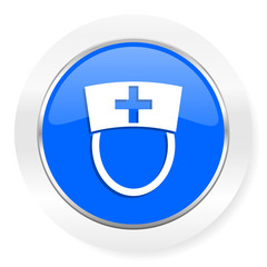 nurse blue glossy web icon