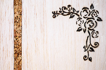Floral pyrography