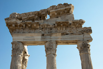 Temple of Trajan at Acropolis of Pergamon in Izmir, Turkey
