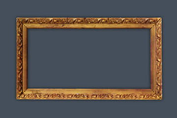 vintage picture frame, gold plated