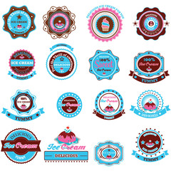 Collection of Ice Cream Design Elements. Illustration eps10